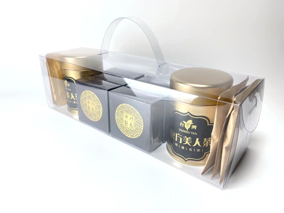 手工皂與茶葉組合